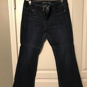 American Eagle flare jeans and straight leg jeans
